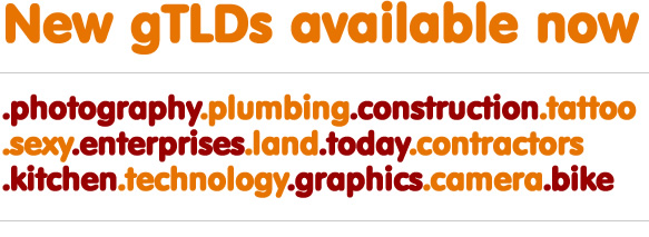 New gTLD's Available
